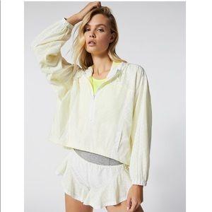 Free People Rain Runner Pullover Jacket White XS